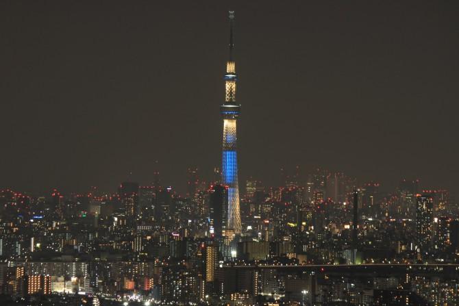 アイ・リンクタウン展望施設から見た東京スカイツリー