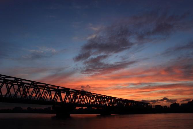 江戸川から見た夕焼け