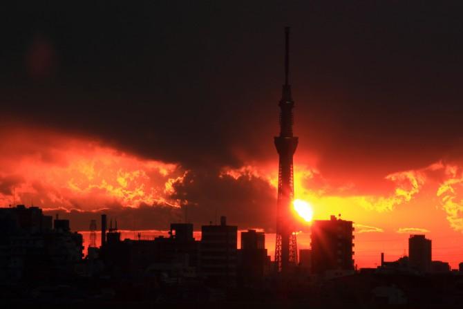 2012年最後の日没