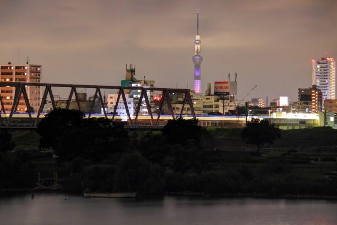 夜の江戸川