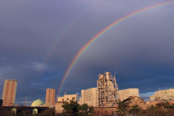きのうの虹 江戸川より