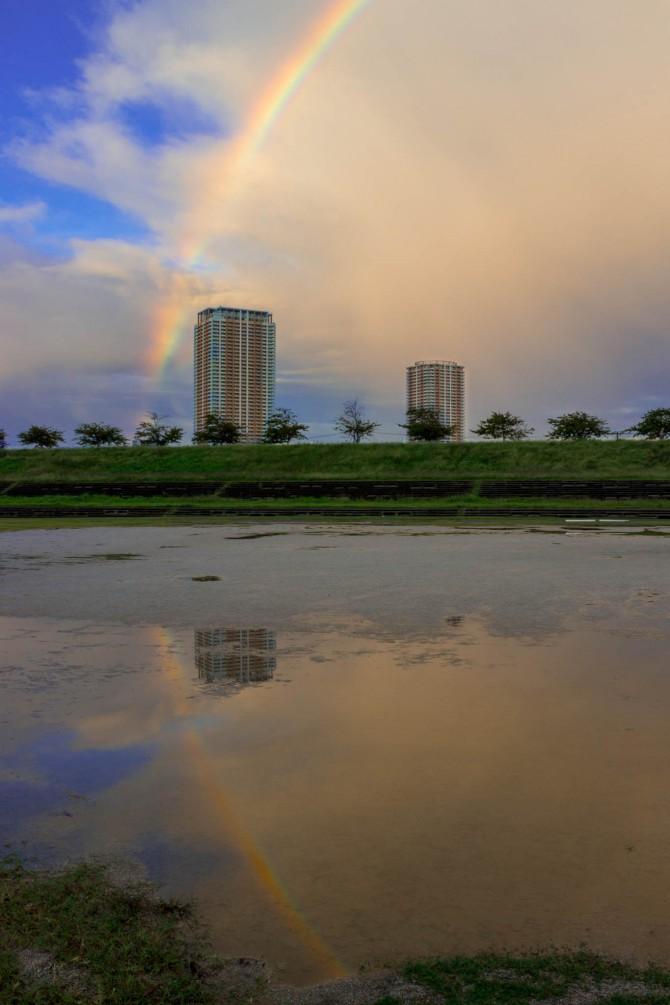 江戸川から撮った虹