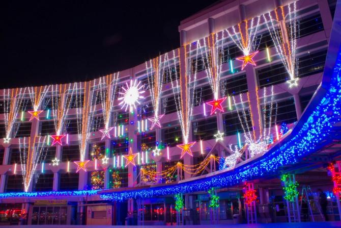 中山競馬場のクリスマスイルミネーション 2013年