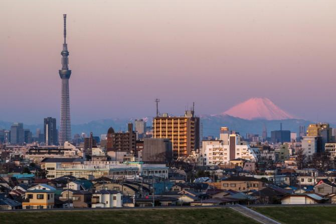 ひさしぶりの富士山 里見公園より