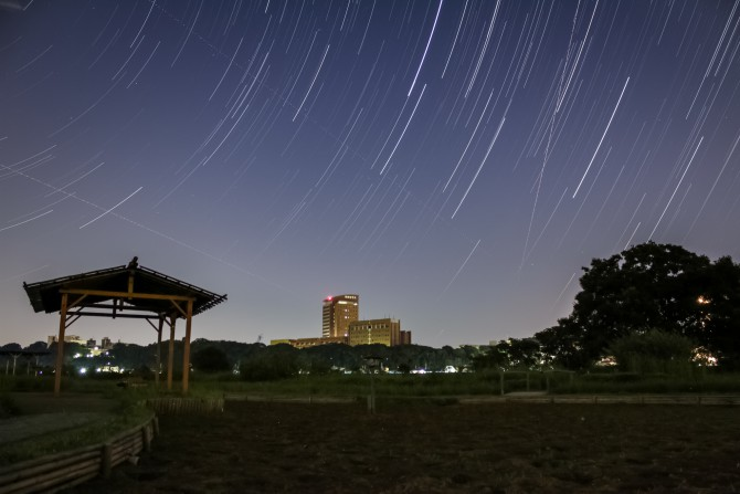 江戸川から流れ星の撮影にチャレンジしてみましたが…