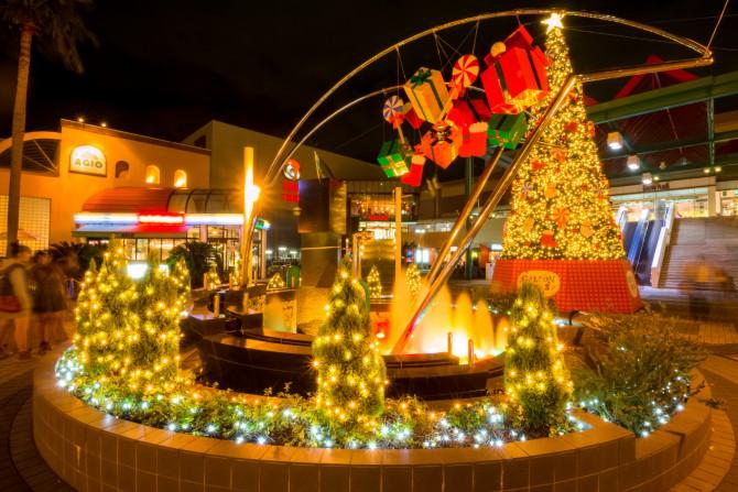 ニッケコルトンプラザ クリスマスイルミネーション 2014