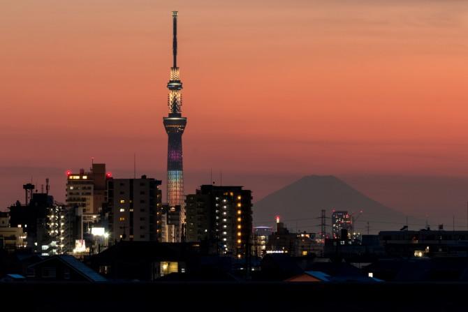富士山と東京スカイツリー「Lovely Chocolat」