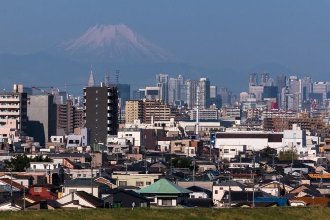 めずらしく富士山が 里見公園より