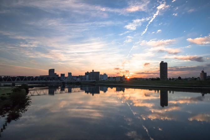江戸川の朝