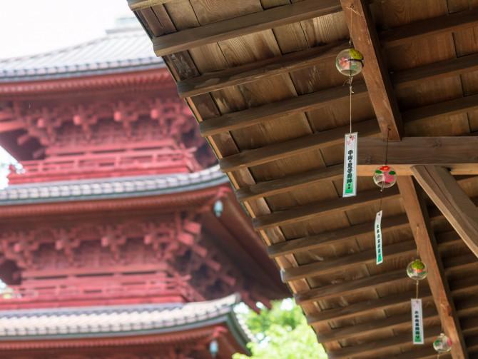 今年も中山法華経寺周辺で風鈴が
