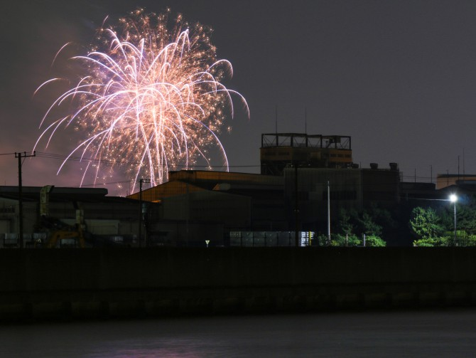 きょうは船橋で花火でした