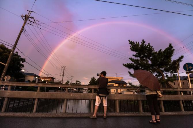きのうの虹 真間川にて