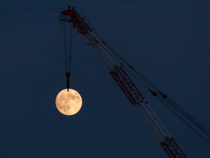 「中秋の名月」がのぼってきました