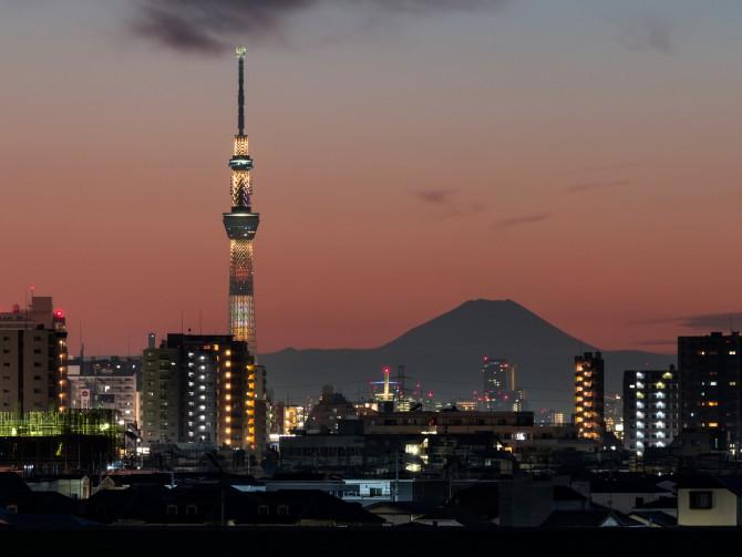 富士山と炊き込みご飯のスカイツリー