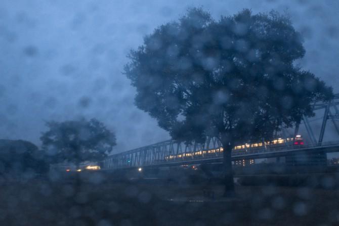 雨の江戸川