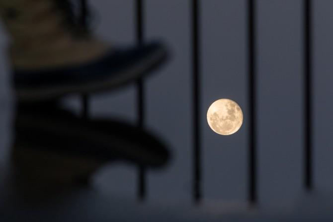 満月過ぎの月