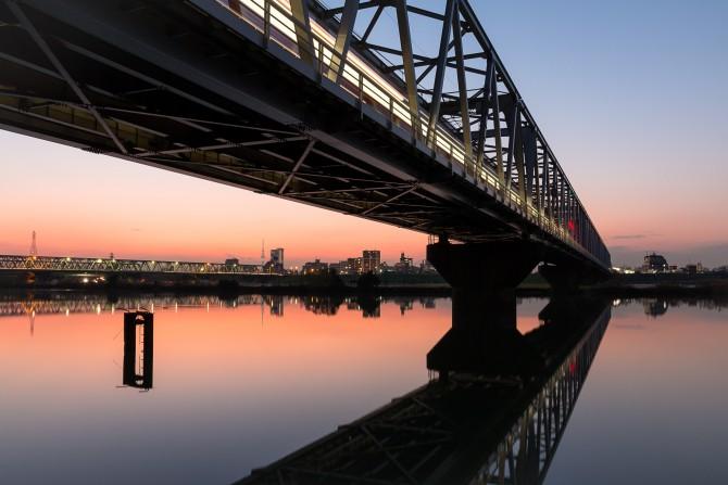 江戸川の夕暮れ