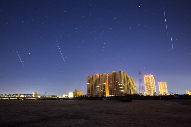 ふたご座流星群の活動がピーク 2015年12月14日(月)~15日(火)
