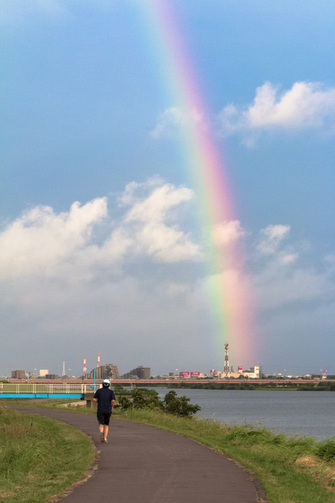 虹の端っこ