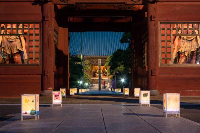 徳願寺で「行燈ライトアップ」 2016年8月13日(土)