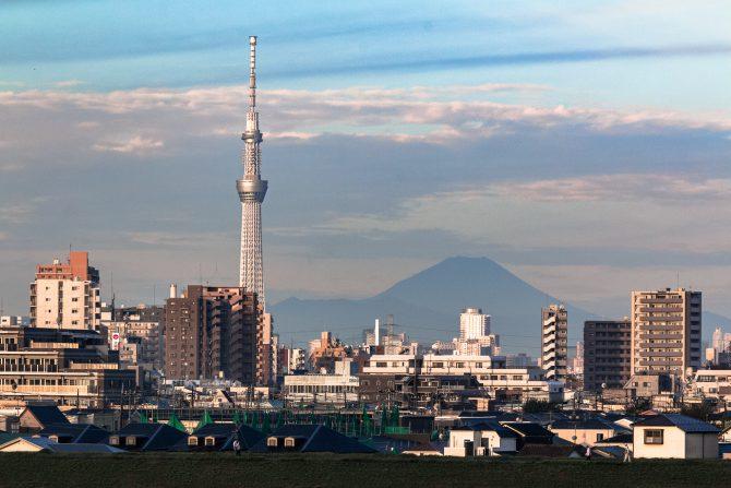 久しぶりの富士山とスカイツリー