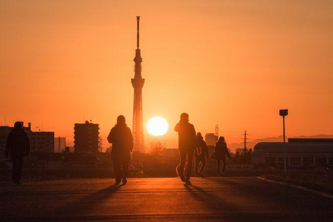2016年最後の夕陽