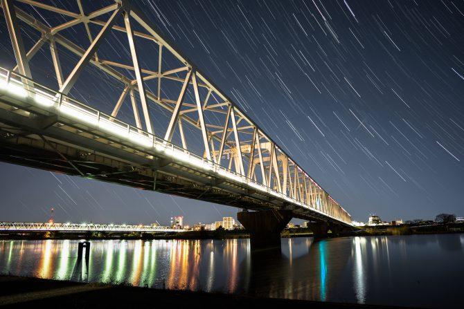 星の軌跡と京成線