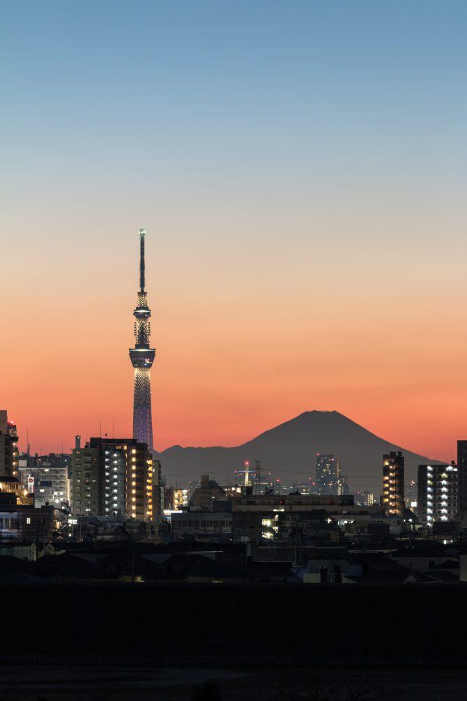 「夕空のグラデーション」 江戸川より