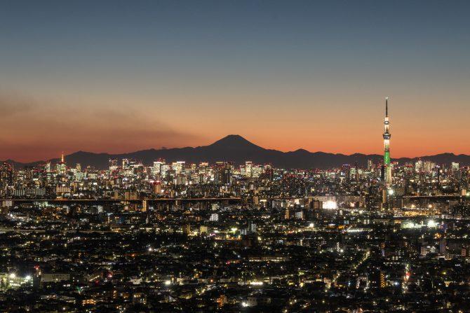 「富士山と東京」 アイ・リンクタウン展望施設より