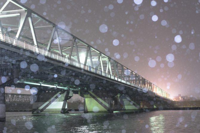 雪の市川橋