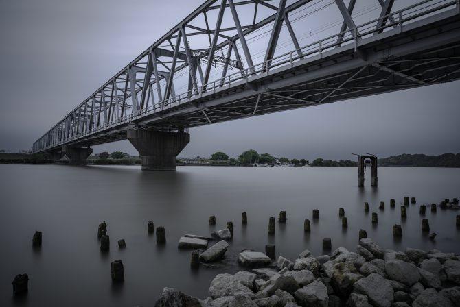 江戸川の水位が低くなる日に