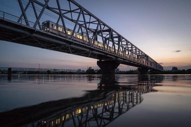 夕暮れの京成線