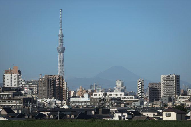 台風一過、富士山が綺麗に見えました