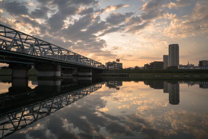 江戸川が静かな朝に