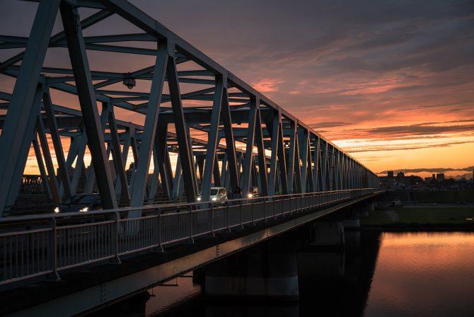 夕焼けの市川橋