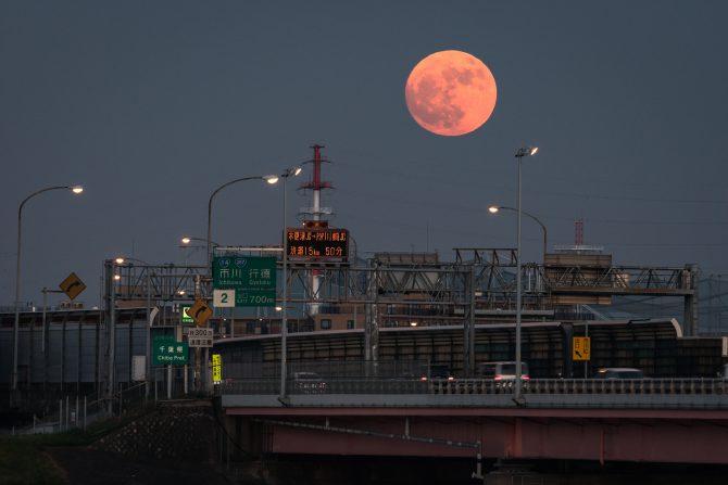 今晩は満月