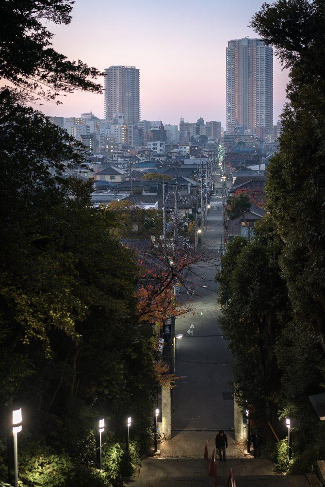 弘法寺からの朝の市川
