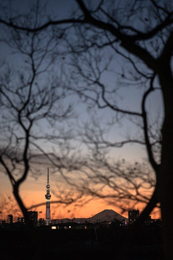 夕空のグラデーション