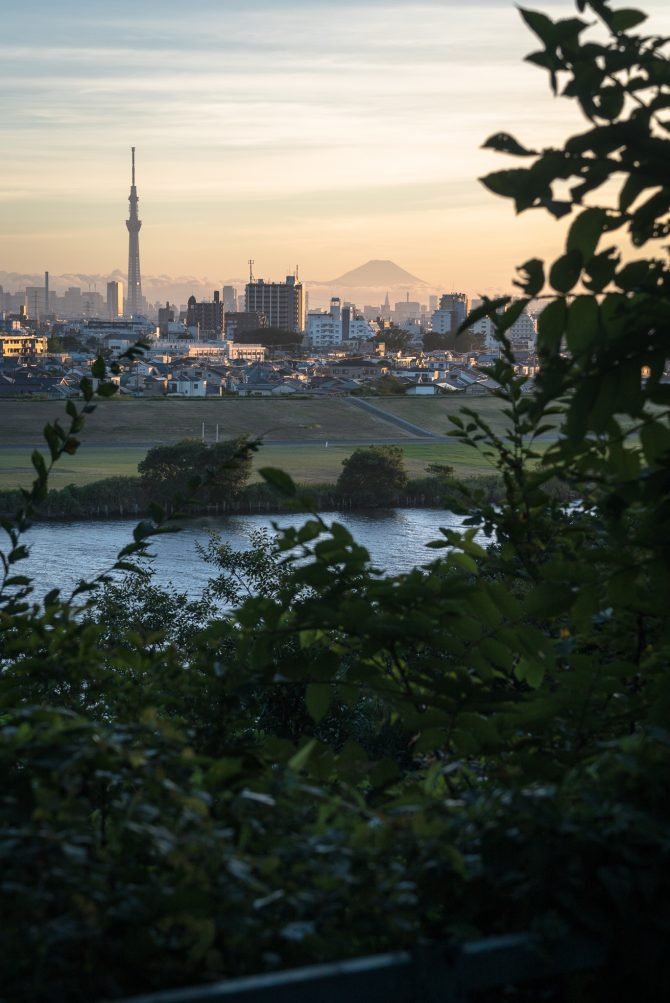 里見公園からの夏の夕景