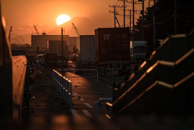 行徳港の夕暮れ