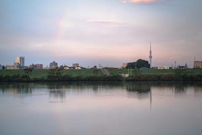 虹の端っこと江戸川