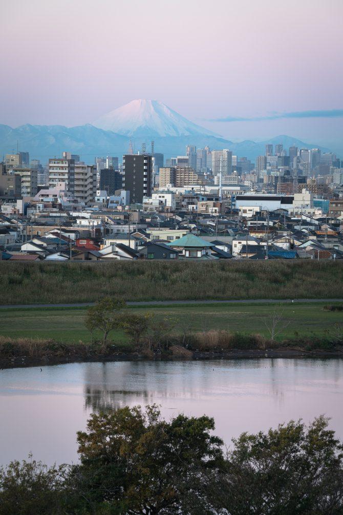 紅富士と江戸川