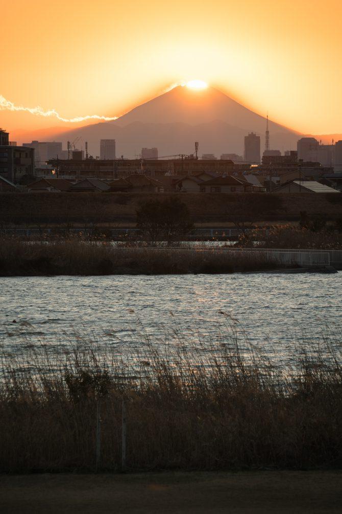 ダイヤモンド富士と江戸川