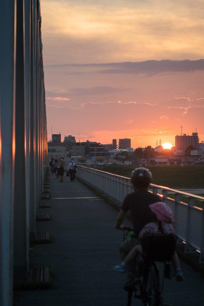 市川橋の夕暮れ