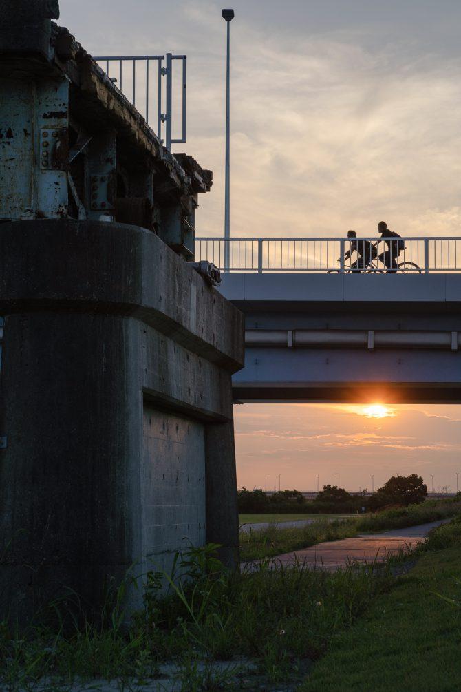古い行徳橋と新しい行徳橋